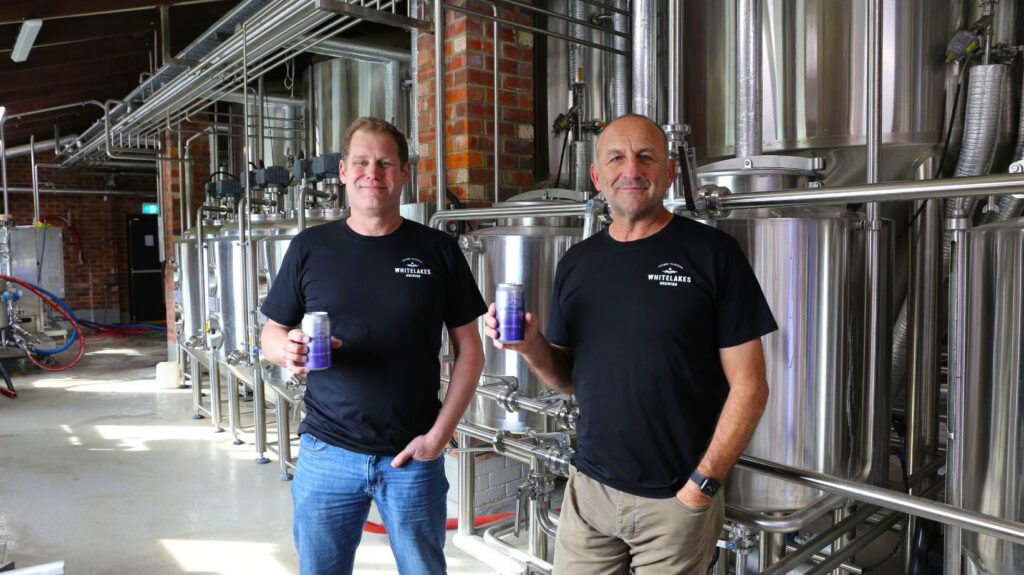 Sean & John at Whitelakes with award winning beer