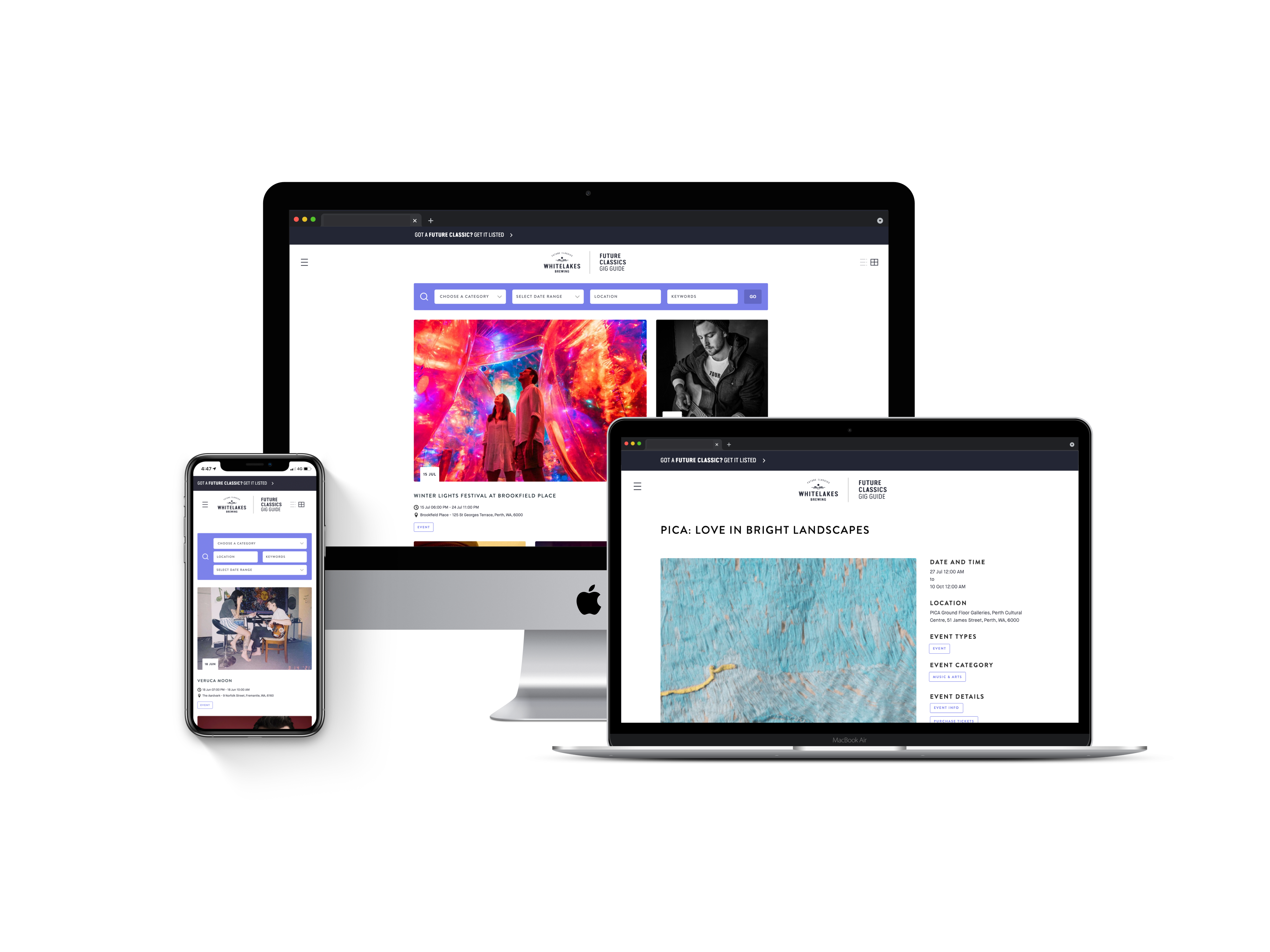 Discover Future Classics Gig Guide on all devices.